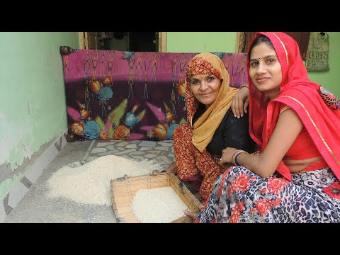 Desi Style of cleaning Rice , Grandmother style in authentic Indian way