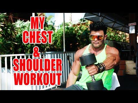 Sahil Khan's Chest & Shoulder Workout