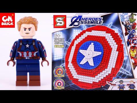 LEGO MARVEL AVENGERS CAPTAIN AMERICA SHIELD SY1454 Unofficial Lego Lego Videos