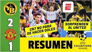 Young Boys 2-1 Manchester United. Cristiano Ronaldo ANOTÓ en DRAMÁTICA derrota | Champions League