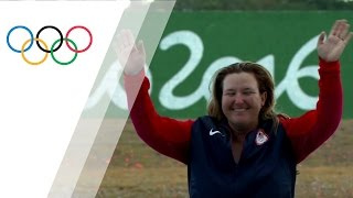 Rhode becomes the first woman to win a medal in six succesive Olympic Games