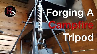 Blacksmithing - Forging A Campfire Tripod With A Trammel Hook