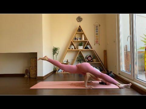 Başlangıç seviyesi yoga akış 2.Bölüm (Güneşe selam, ayakta bazı pozlar)
