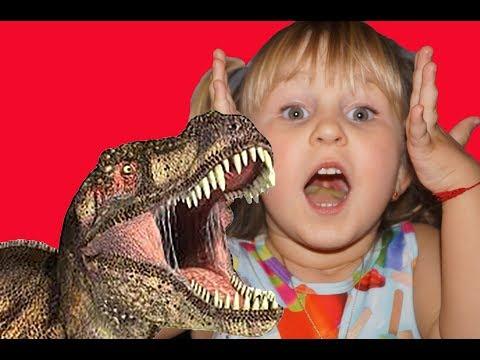 Динозавр напал на детей! Тиранозавр Рекс! The dinosaur attacked the children! Tyrannosaurus Rex!