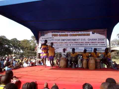 Cultural dance performance by school children during EVS-2009 @ Ghana