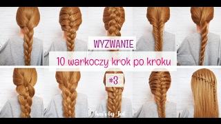 Warkocz holenderski -  wyzwanie 10 warkoczy kork po kroku  - hair by Jul