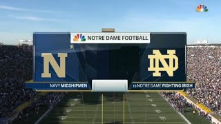 Navy vs Notre Dame Full Game 10/10/2015 NCAA Football 2015 Week 06