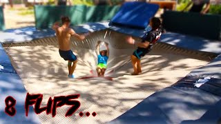 THE MOST FLIPS EVER DONE ON A TRAMPOLINE *octuple*
