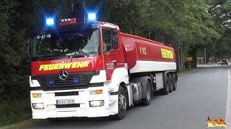 [GTLF 30.000 zu Großeinsatz] Wachausfahrt Feuerwehr Lastrup + Anfahrten FW LK Cloppenburg + RD