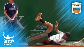 FUNNY: Kokkinakis gets his revenge after taking a fall! | Monte-Carlo 2018