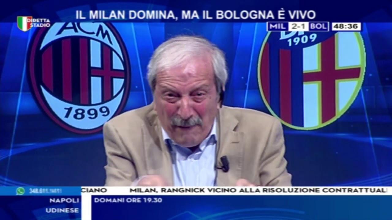 Milan Bologna 5-1 con Tiziano Crudeli - YouTube