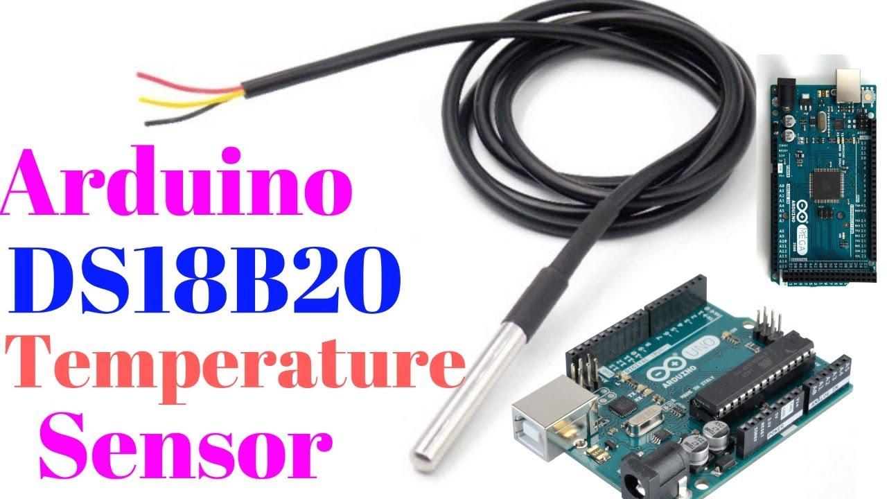 Arduino DS18B20 temperature sensor tutorial