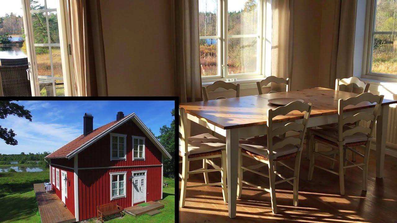 schweden ferienhaus am see mit boot urlaub von privat alleinlage youtube. Black Bedroom Furniture Sets. Home Design Ideas