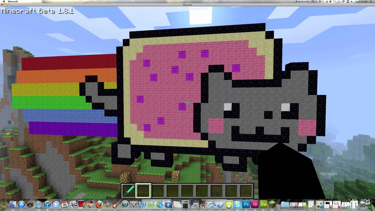 Minecraft Pixel Art - Nyan Cat Tutorial - YouTube
