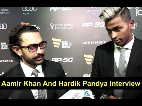Aamir Khan And Hardik Pandya Interview At Indian Sports Honours Awards 2017