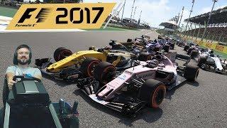 гран-при Бахрейна F1 2017 Force India F1 - руль Fanatec ClubSport Formula Black