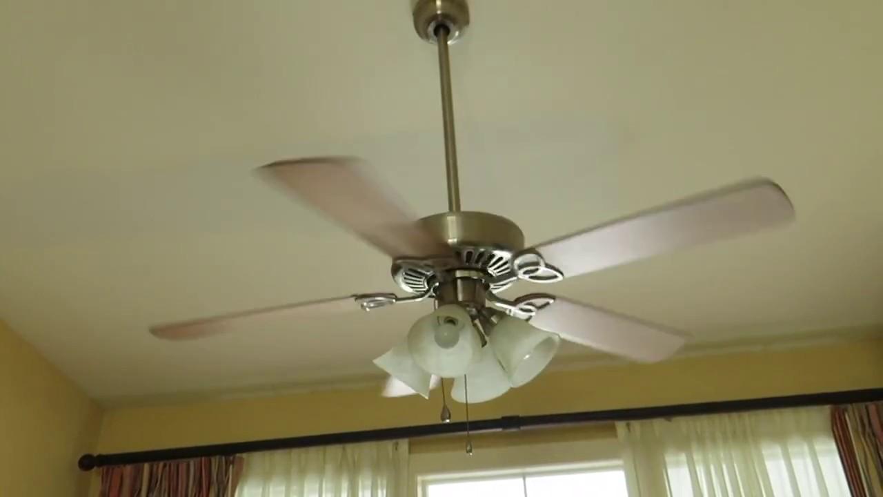 Harbor Breeze Springfield ceiling fan (1 of 2) - YouTube