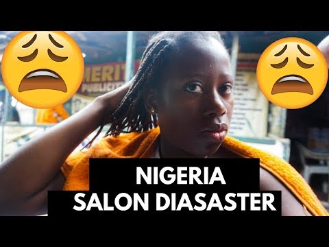 I TRIED TO GET MY NATURAL HAIR BRAIDED IN NIGERIA, A DISASTER!!! ||  NAIJA TRAVEL VLOG 2018 #10