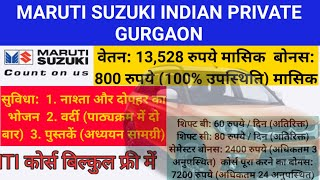Maruti Suzuki Indian Private Limited Gurgaon