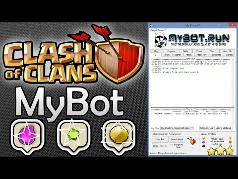 Auto Attack, Donate, Chat etc Clash Of Clan Playing With MY.BOT- save your time.