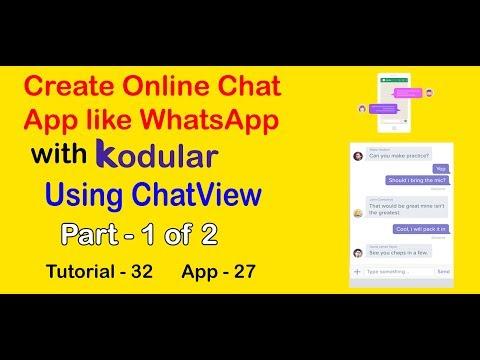 Kodular ChatView    Create Online Chatting App Like WhatsApp   Part 1