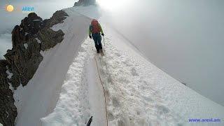 Climbing Mont Blanc  4807m.