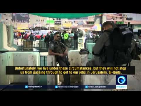 b 567 Press TV Coffee in Palestine   Checkpoints  The strang
