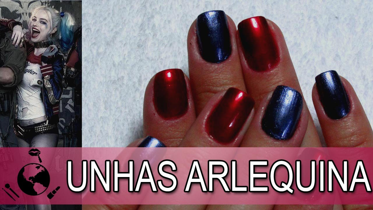 Harley Quinn Suicide Squad - nails ready in a minute - YouTube