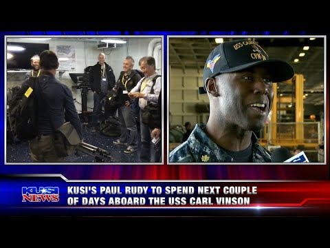 Paul Rudy Aboard the USS Carl Vinson