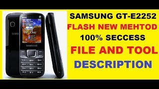 Samsung Gt-e2252 Flash How To Flash Gt-e2252 Without Box Hindi Urdu Tutorial