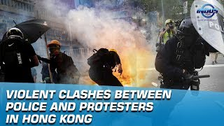Violent Clashes between police and protesters in Hong Kong   Indus News