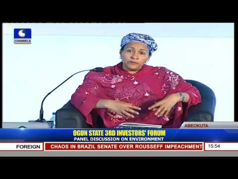 Ogun Investors' Forum: Minister Of Environment Says More Still Needs To Be Done On Climate Change