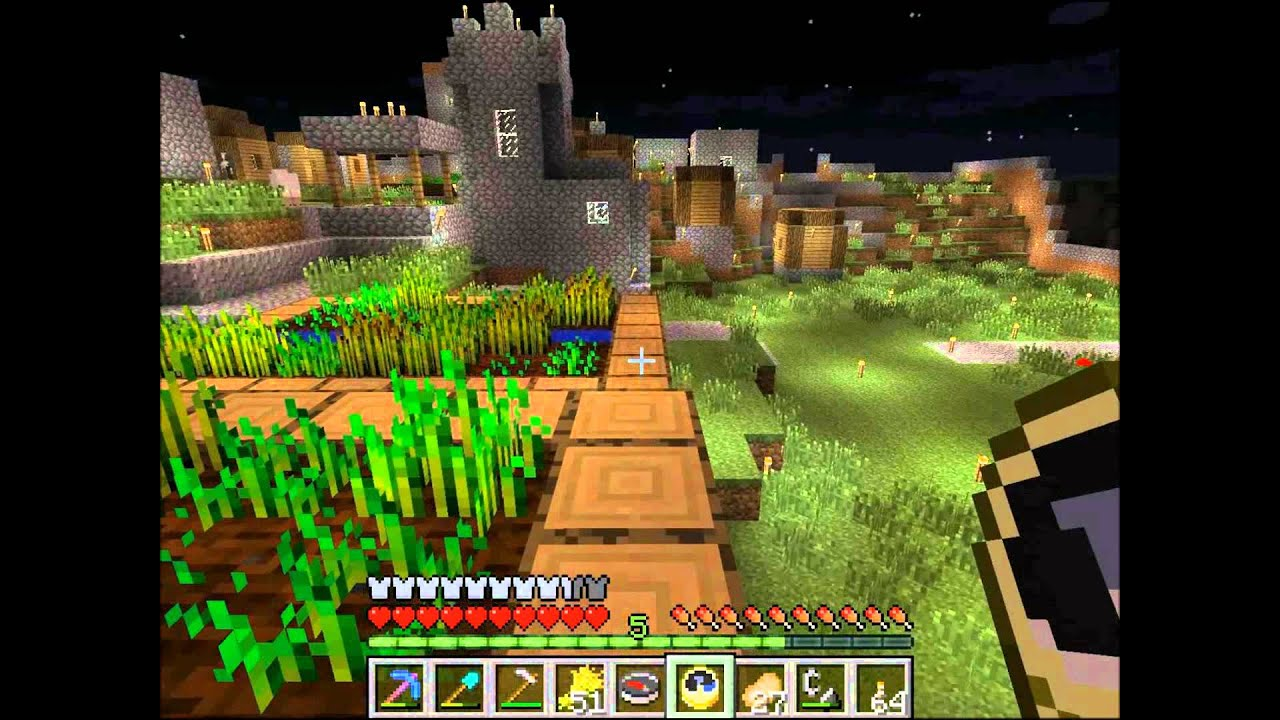 How to Live in a Village in Minecraft