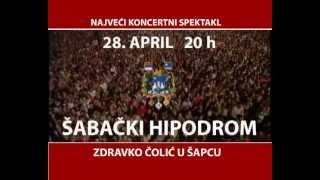 Zdravko Čolić - koncert u Šapcu!