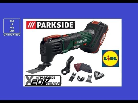 Parkside Cordless Multi-Purpose Tool PAMFW 20-Li A1 UNBOXING (Lidl LITHIUM ION 5000–19000 Rpm)