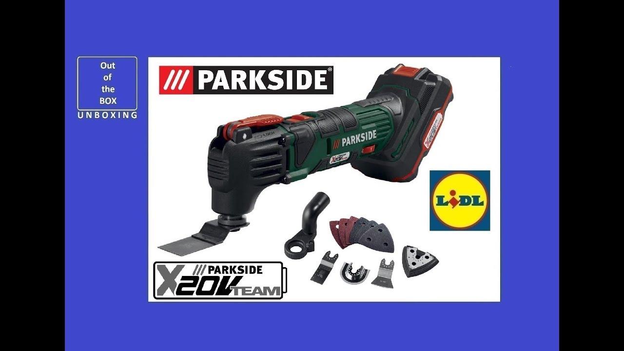 Parkside Cordless Multi Purpose Tool Pamfw 20 Li A1 Unboxing