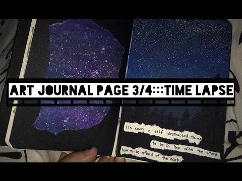    art journal//time lapse   