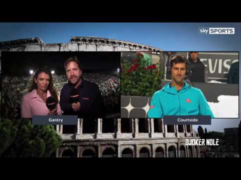Novak Djokovic Interview After Match vs Dominic Thiem - Rome 2017 (HD)