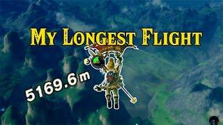 [Zelda Breath of the Wild] My Longest Flight | 5000M+ Gliding Distance!
