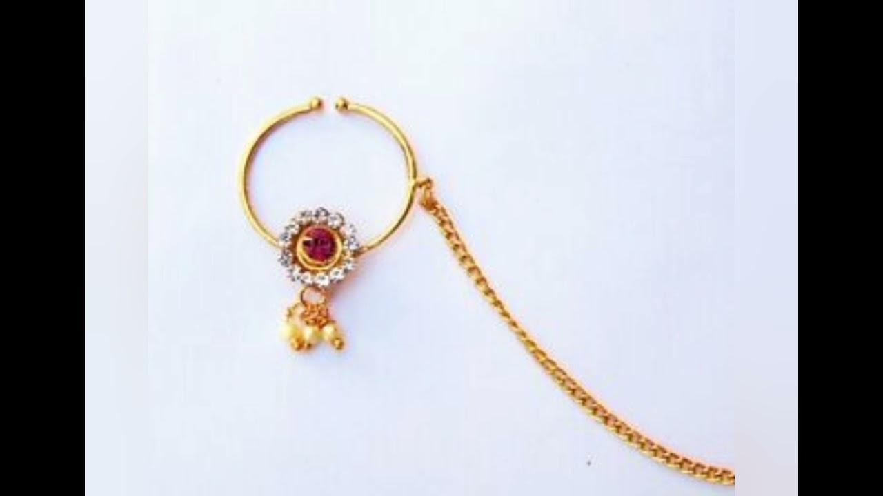 Gold Nose Ring Designs | Nose Ring Designs | Gold Bridal Nath Designs #Jewellery #BridalJewelry