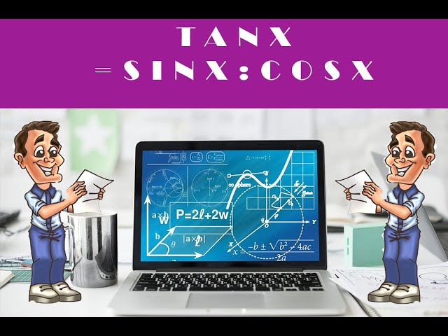 Tan x = sin x / cos x : formule de trigonométrie - cours maths.