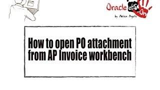 Wie zu Öffnen Purchase Order (PO) Anlage Von Kreditoren (AP) Rechnung Workbench?