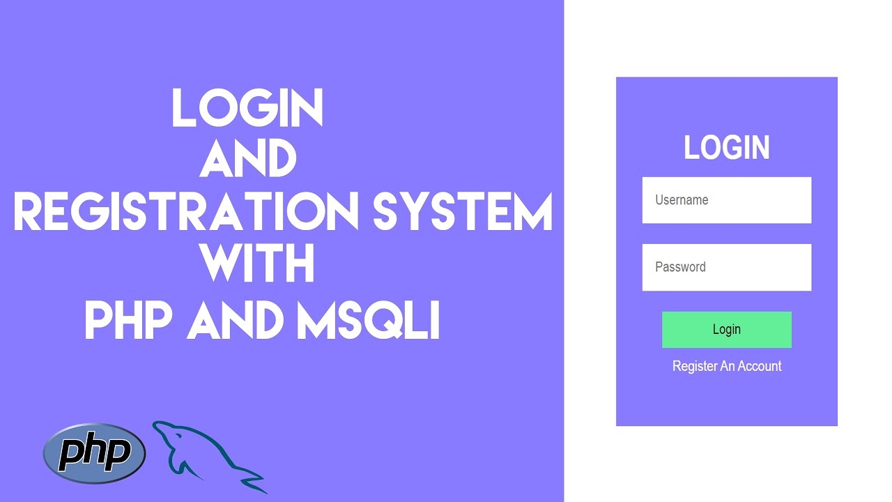 Simple Login And Registration system with PHP and MYSQLI for beginners 2020
