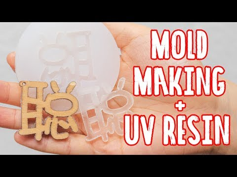 How to use silicone mold maker and casting with uv resin - Malaysia Clay Art