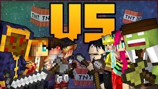 Minecraft - Hunger Game de Fou VS la team iPlay4you !