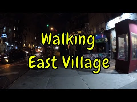 ⁴ᴷ Walking Tour of East Village, Manhattan, NYC at Night (Vibrant Nightlife)