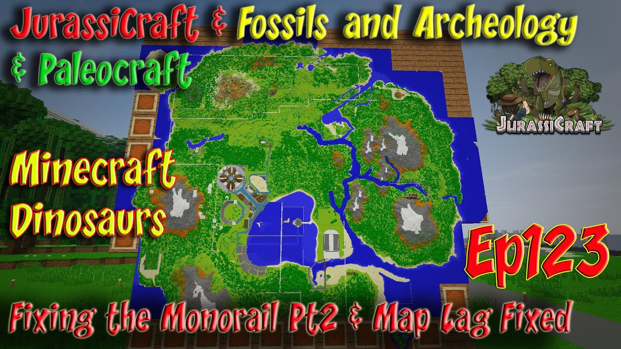 Jurassicraft fossils and archeology jurassic world ep123 monorail jurassicraft fossils and archeology jurassic world ep123 monorail fixing pt2 map lag fix youtube gumiabroncs Choice Image