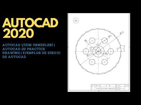 autocad-Çizim-Örnekleri-|-autocad-2d-practice-drawing-|-ejemplos-de-dibujo-de-autocad-|-exercise-46