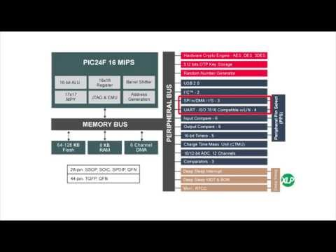 """Protecting Embedded Data in Low Power Applications with PIC24 """"GB2"""" Family"""