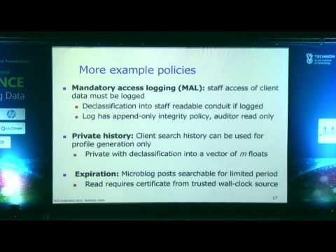 Peter Druschel - Ensuring Compliance in Large-Scale Data Systems